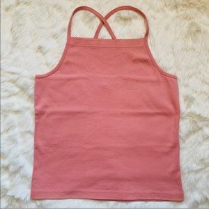 The Limited America Pink Halter Tank Top